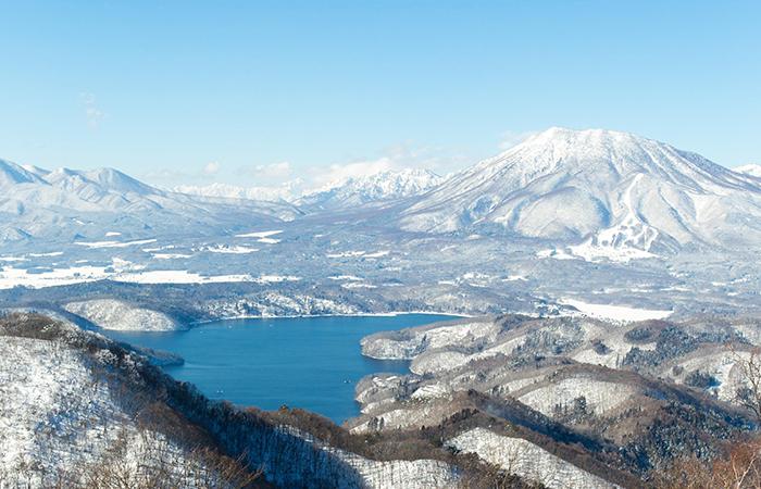 野尻湖テラスからの眺め